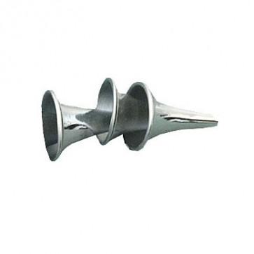 Ear speculum, metal, 3-piece set