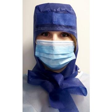 Kapa kirurška na vezanje sa silikonom i znojnikom   indigo plava   pakiranje 10 kom   hrvatski proizvod