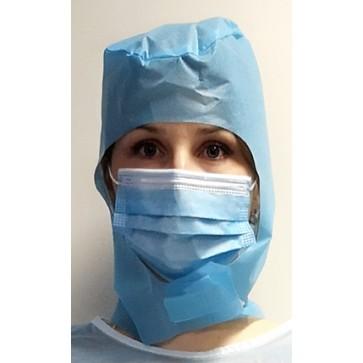 Kapa kirurška na čičak | plava | pakiranje 10 kom | hrvatski proizvod