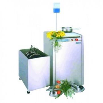 Uređaj i spremnik za pražnjenje i čišćenje noćnih posuda