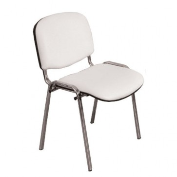 Stolac s naslonom ISO full-bijeli