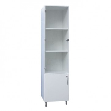 Storage cabinet for instruments and medicines, single sided, 45x45x180cm