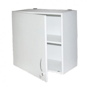 Single door storage cabinet for medicines, glass door, 60x30x60 cm