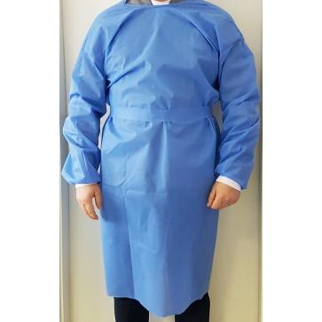 Jednokratni ogrtač, nesterilni | 40 g/m2 | plavi | 2XL