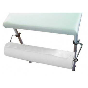 Paper roll holder for examination tables