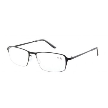 Reading glasses Titan, for men, black; Diopters: +1, +1.50, +2, +2.50, +3 and +3.50