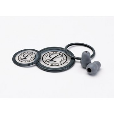 Littmann® Stethoscope Spare Parts Kit for Litmann Cardiology III, rim and diaphragm for adult and pediatric side, set of eartips, gray