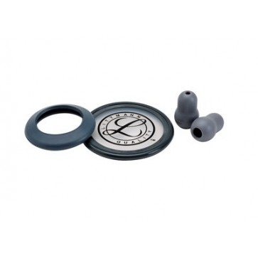 Littmann® Stethoscope Spare Parts Kit for Classic II, diaphragm with rim, pair of eartips, gray