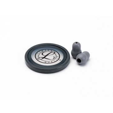 Littmann® Stethoscope Spare Parts Kit for Master Cardiology, diaphragm with rim, pair of eartips, gray
