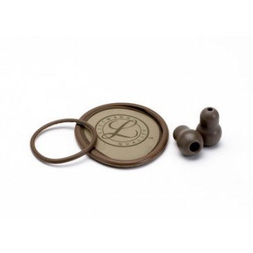 Littmann® Stethoscope Spare Parts Kit for Lightweight II S.E., diaphragm with rim, non-chill bell sleeve, pair of earsets, brown