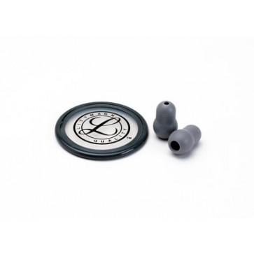 Littmann®  Stethoscope Spare Parts Kit for Littmann Master Classic II, rim and diaphragm, set of eartips, gray