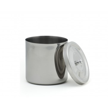 S.S. Jar for Cotton, stainless steel, round, lid with knob, Ø 120x120 mm