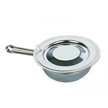 Bed pan, completely made of stainless steel