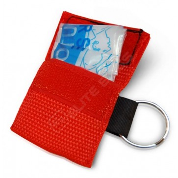 Pocket CPR face shield on a keychain