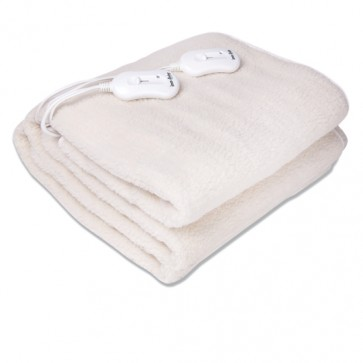 Electric heating blankets made of synthetic wool