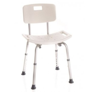 Shower chair with backrest   Moretti