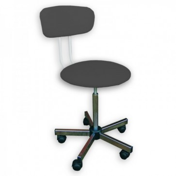 Rexmoebel revolving chair with a backrest, black (Delivery within 10 days)