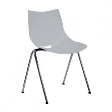 Shell chair with backrest, white (Delivery within 10 days)