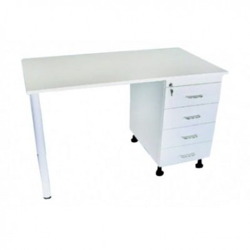 Hospital working table, white (Delivery within 10 days)