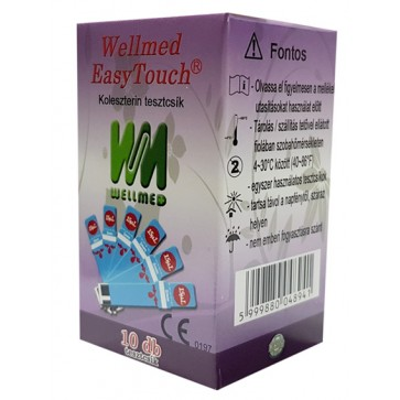 Wellmed Cholesterol Test Strips for Easy Touch GC, GCHb and GCU, 10 pcs