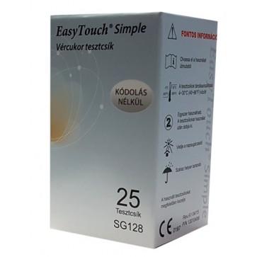 Trakice za mjerenje šećera u krvi (glukoza) za glukometar Wellmed Easy Touch Simple | 25 komada