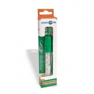 Mercury-Free glass thermometer for medical use with a convenient handle for shaking