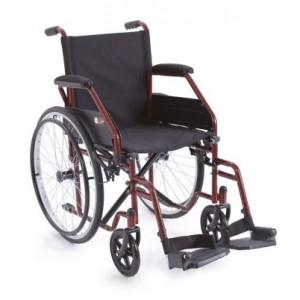 Sklopiva invalidska kolica START | crvene boje | širina sjedišta 48 cm
