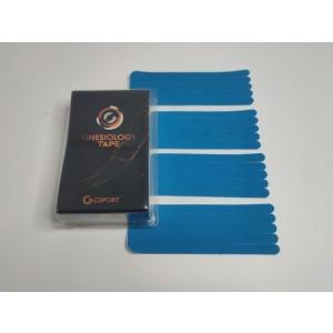 Kineziološke trake | unaprijed profesionalno izrezane | oblik ŠAPA - 4 komada | plave