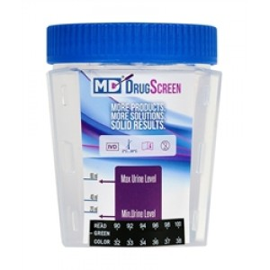 Drug test cup, detects THC, COC, OPI, AMP and MET