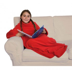 Sleeved blanket, 100% anti-pill fleece, for children