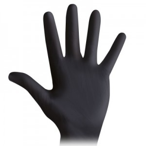 Nitrile gloves DAR NI BLACK, powder free, sizes XS, S, M, L and XL (100 pcs)
