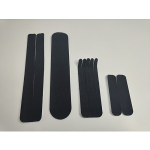 Kineziološke trake | unaprijed profesionalno izrezane | Set traka - I, Y, X i Šapa | crne boje