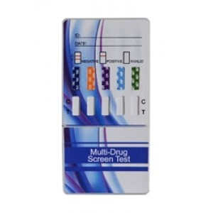 One step multi drug test card, detects THC, COC, OPI, AMP and MET