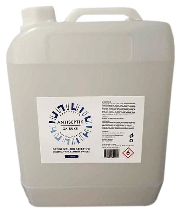 Antiseptik za dezinfekciju ruku - pakovanje 5 litra
