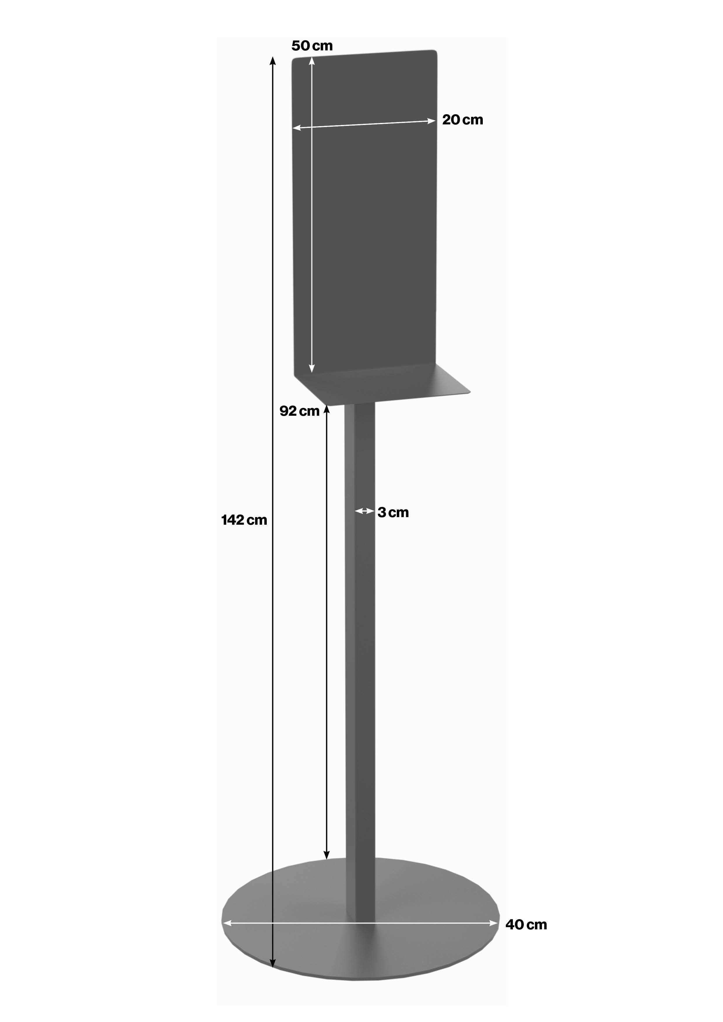 visoki samostojeći stalak za dispenzer
