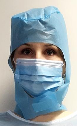 11635P Jednokratna kirurška kapa na čičak | plava | pakiranje 10 kom