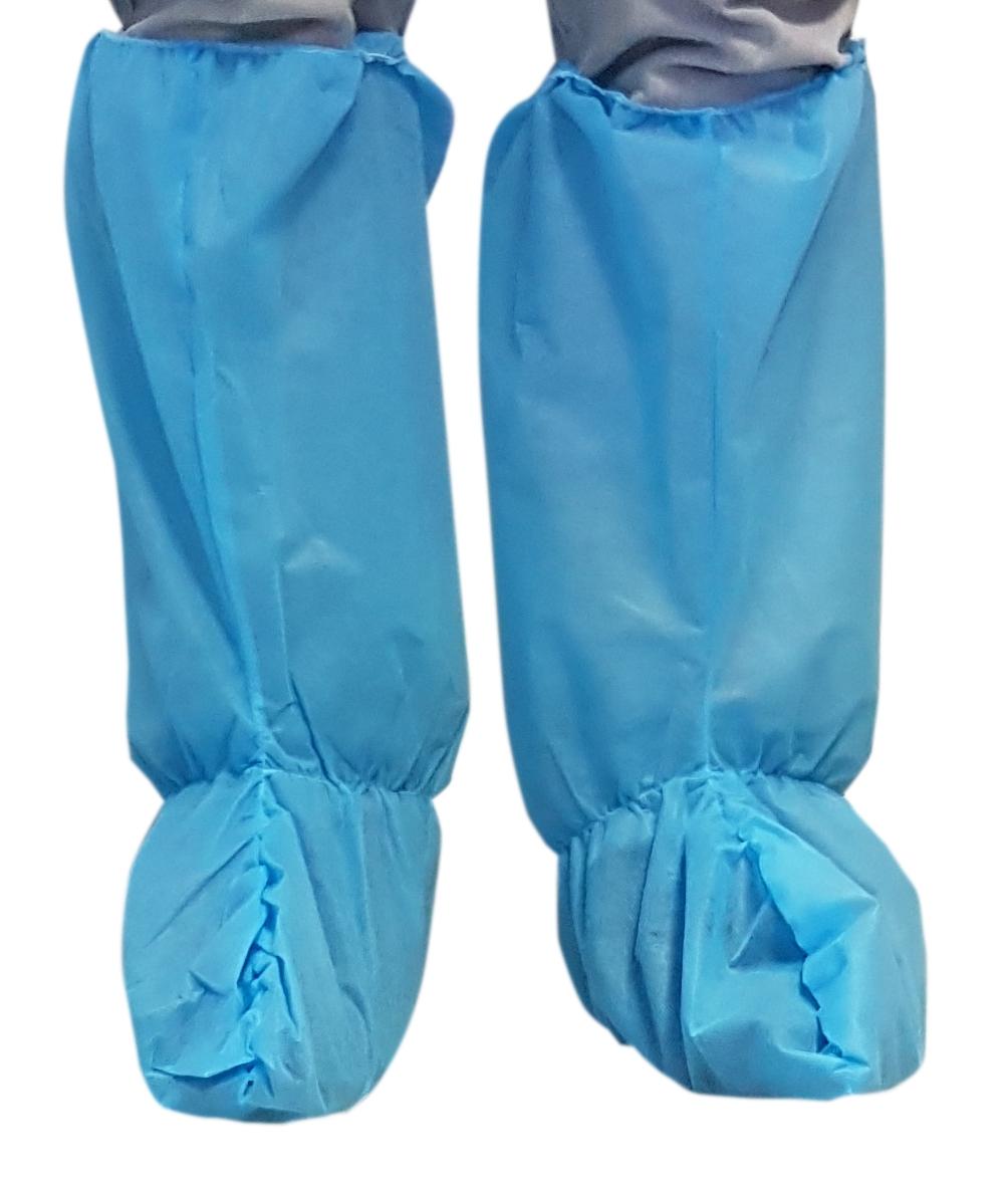15035P Jednokratna visoka navlaka za cipele u plavoj boji | 35g/m2 | pakiranje 50 kom