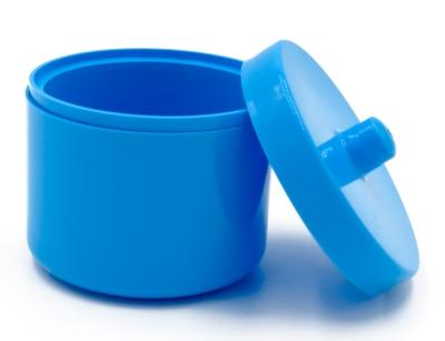 Kutijica za zubnu protezu s poklopcem u plavoj boji